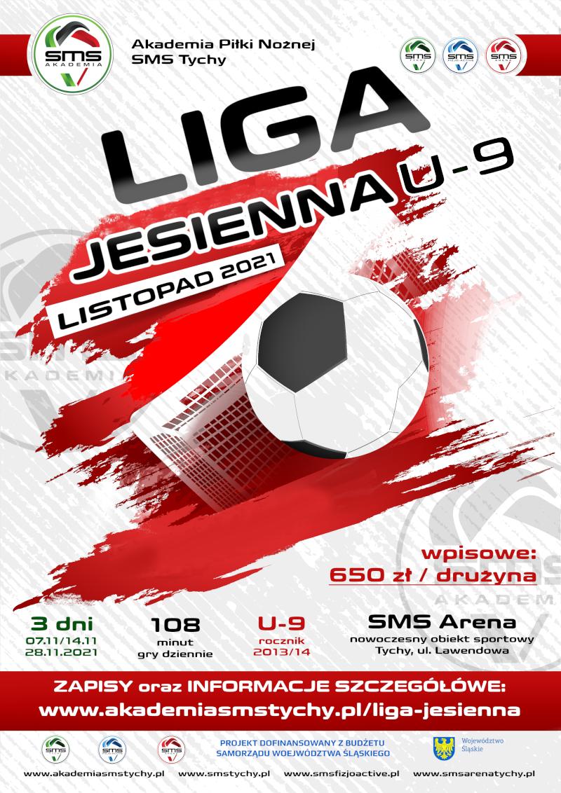 Plakat Ligi Jesiennej 2021 w SMS Arenie Tychy